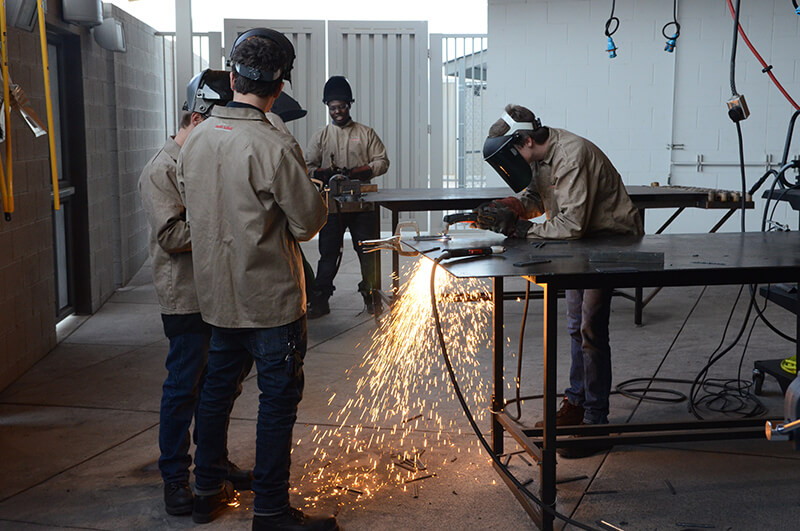 welding technology program high school students