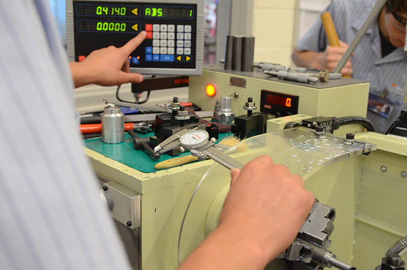 precision machining high school students