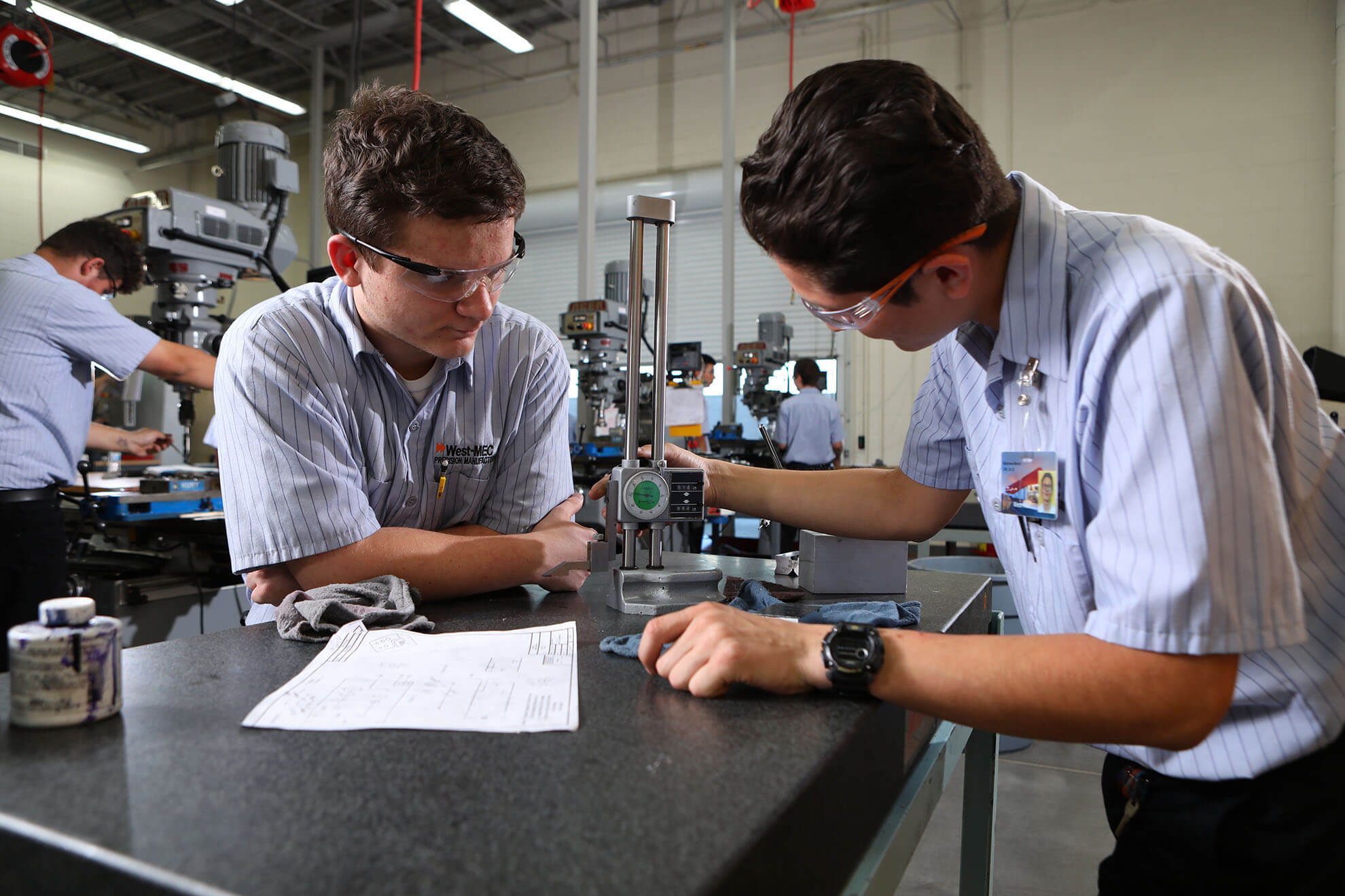 Precision Machining Students