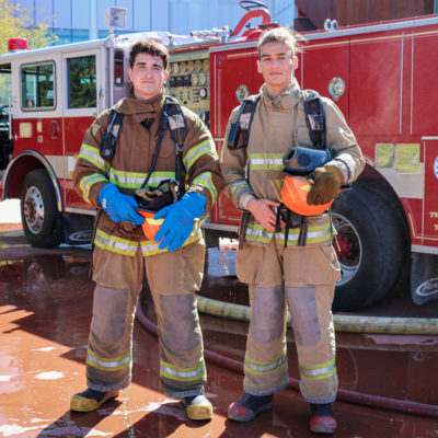 image of Fire Science students