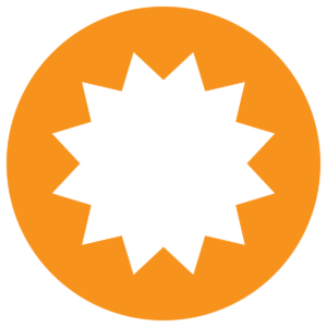 This is an image of a badge icon.