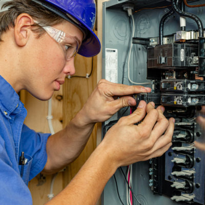 West-MEC Career Training ELECTRICAL Program Student