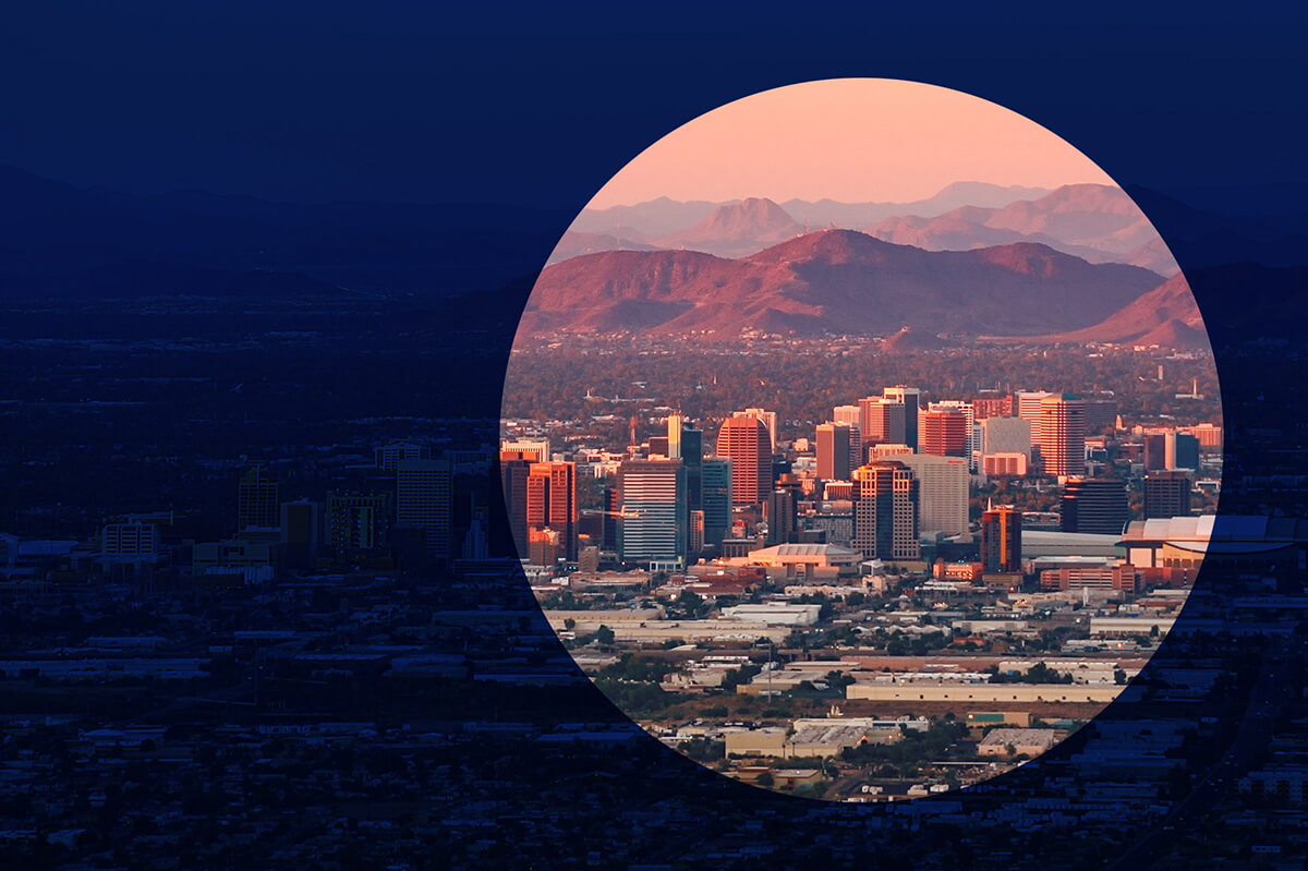 Western Maricopa Education Center Phoenix skyline image